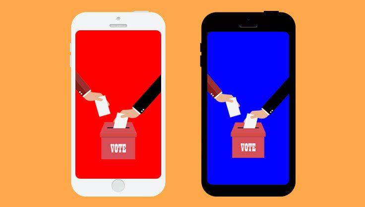 Valg paa sociale medier