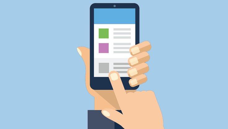Brug Facebook-appen efter behov