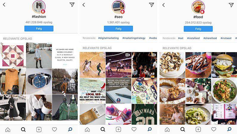 Instagram følg et hashtag