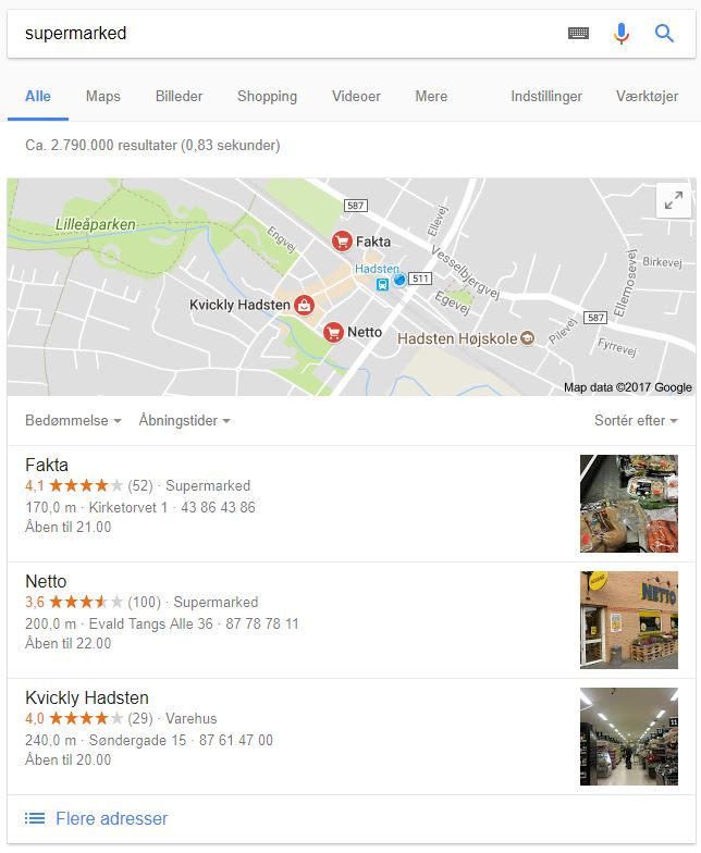 Google My Business for supermarkeder