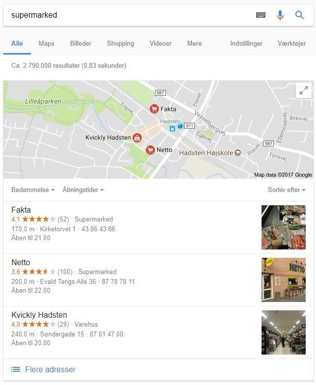 Google My Business for supermarkeder