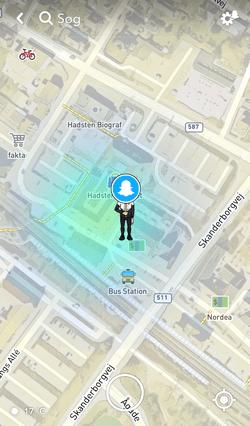 Snap Map kan vise din præcise placering