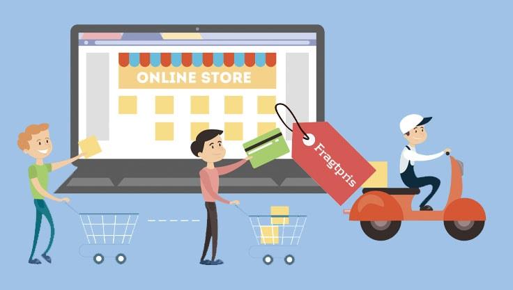 Fragt ved e-handel