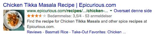Med rich snippets er det muligt for dig at vise mere end blot titel og beskrivelse i søgeresultaterne.