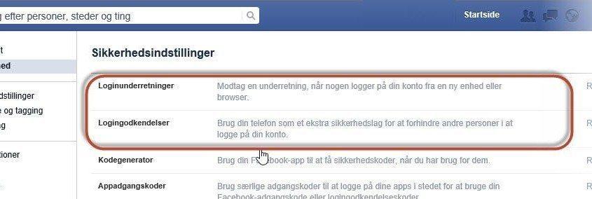 Facebook sikkerhed
