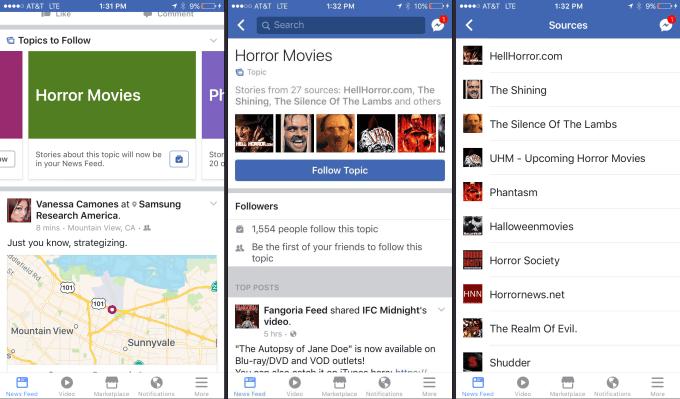 Ny funktion på Facebook vil lade dig følge emner i stedet for sider