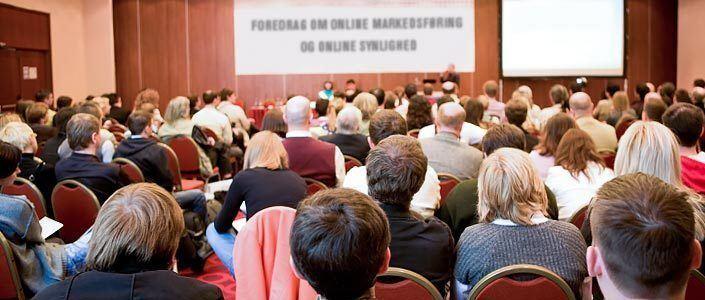 Foredrag om online markedsføring og online synlighed
