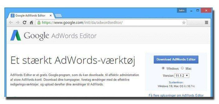 AdWords Editor – Nødvendigt redskab til store AdWords-konti