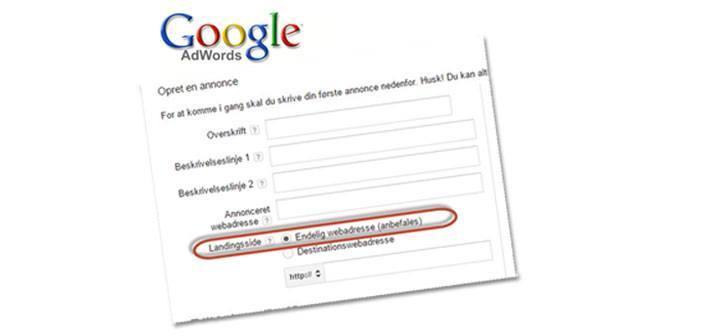 Husk: Dine AdWords-URL'er skal ændres 1. Juli