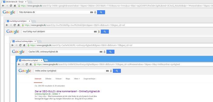 Google kommandoer