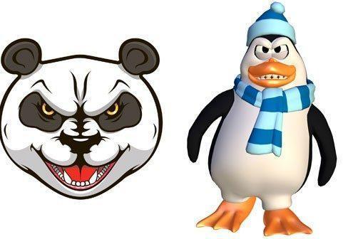 Panda & Penguin