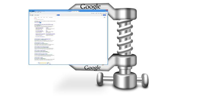 Google SERP's skrumper