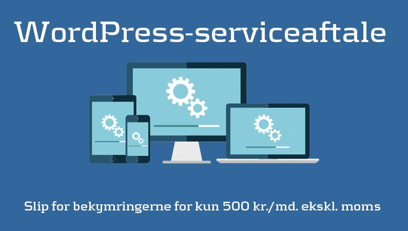 WordPress-serviceaftale