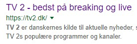 TV2 vist med https i Googles søgeresultater