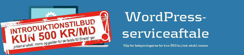 Lad os stå for vedligehold af din WordPress-hjemmeside med en serviceaftale